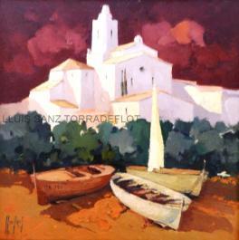 Marina Cadaquès Oli sobre tela 55 x 55