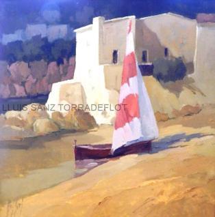 Marina Calella Palafrugell Oli sobre tela 73 x 54