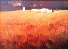 Paisatge de blat Oli sobre tela 100 x 73