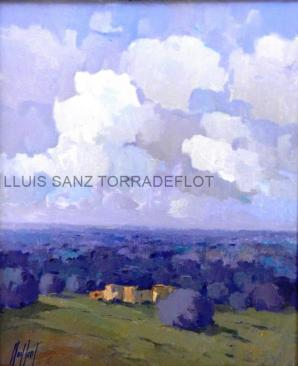 Camp d'oliveres Oli sobre tela 47 x 56