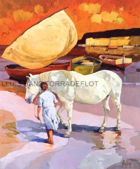 Cavall a Port de la Selva Oli sobre tela 81 x 100
