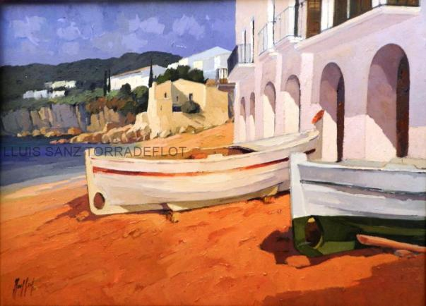 Marina Calella Palafrugell Oli sobre tela 100 x 73