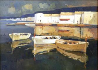 Marina Port de La selva Oli sobre tela 100 x 73