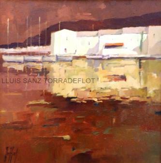 Marina Port de La selva Oli sobre tela 55 x 55