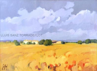 Paisatge de blat Oli sobre tela 73 x 54
