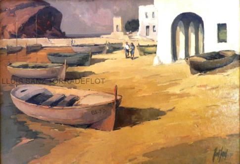 Port de Llançà Oli sobre tela 65 x 95
