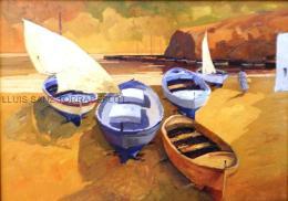 Port de Llançà Oli sobre tela 92 x 65