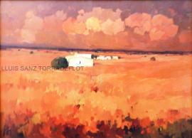 La Manxa Vermells Oli sobre tela 100 x 73