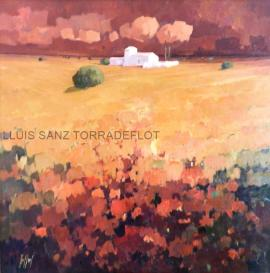 La Manxa Vermells Oli sobre tela 100 x 100